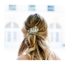 Plaukų segtukas dekoruotas stiklo perliukais