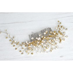 Šukutės į plaukus dekoruotos kristaliukais