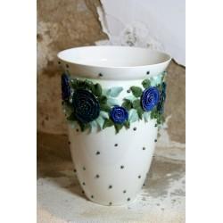 Rankų darbo porcelianinė vaza