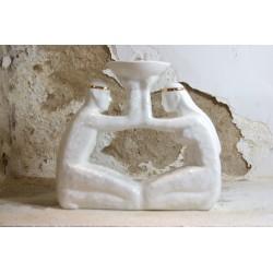 Rankų darbo porcelianinis židinys