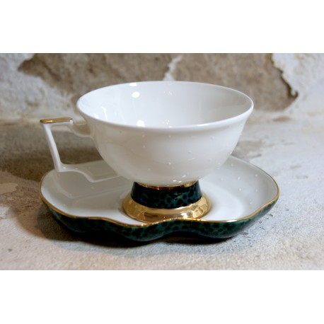 Porcelianiniai rankų darbo puodeliai dviems