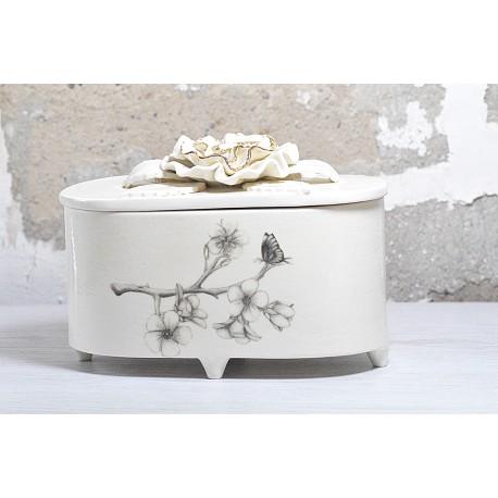 Papuošalų dėžutė - gėlės