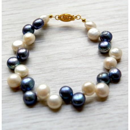 Upinių perlų apyrankė
