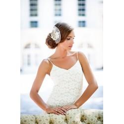 Rankų darbo plaukų aksesuaras vestuvėms