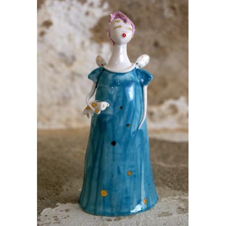 Porcelianiniai rankų darbo angeliukai